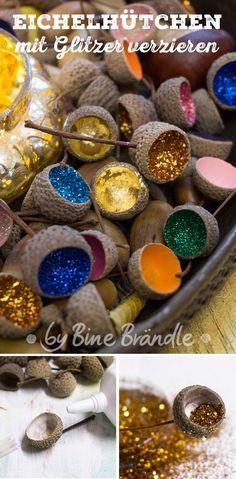 Acorn Crafts & Home Decor Christmas Crafts For Kids, Diy Christmas Ornaments, Diy Crafts For Kids, Home Crafts, Christmas Decorations, Craft Ideas, Upcycled Crafts, Acorn Crafts, Gland