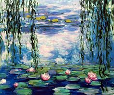 Monet - Water Lilies -  Hand painted oil painting reproductions available at overstockArt.com