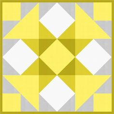 = free pattern = Highlight quilt, 50 x at Robert Kaufman Fabrics - June 2016 Big Block Quilts, Star Quilt Blocks, Mini Quilts, Barn Quilt Patterns, Pattern Blocks, Quilting Projects, Quilting Tips, Yellow Quilts, Half Square Triangle Quilts