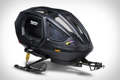 Equinox Snowcoach - It's a trail-worthy tow-behind snowmobile trailer with seating for 2 kids that features high performance gas shock suspension, seat belts, body reflectors, and brake/running lights. Snowmobile Trailers, Motorcycle Trailer, Snow Vehicles, Hors Route, Mens Gear, Equinox, Camping Gear, Bicycle Helmet, Automobile