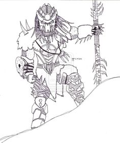 Alien vs Predator Coloring Pages Alien Predator Coloring Pages