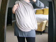 Infinity nursing scarf DIY