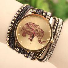 1ea34c4d6a8 Jóias elefante relógio de quartzo mulheres vestido relógios relógio  Feminino pulseira de relógio(China (