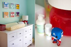 super hero baby room.