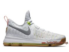 info for 49dd2 1e8ec Nike KD 9 Summer Pack 843392 900 Chaussure Nike Kd 9 Pas cher pour Homme  Blanc-