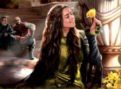 """Margaery Tyrell of Highgarden #GoT Thrice Married Twice Widowed #HouseTyrell """"Wherever she went, the smallfolk fawned on her, and Lady Margaery did all she could to fan their ardor. She was forever giving alms to beggars, buying hot pies off bakers' carts, and reining up to speak to common tradesmen."""""""