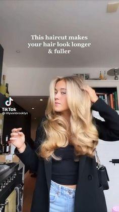 Blonde Layered Hair, Blonde Hair Looks, Brunette Hair, Styling Layered Hair, Long Layerd Hair, Blonde Hair Outfits, Blonde Hair Care, Haircuts Straight Hair, Long Hair Cuts