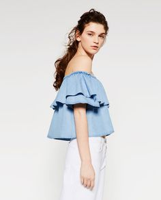 FRILLED TOP - View All-TOPS-WOMAN | ZARA United States