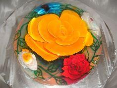 Yellow jello flower