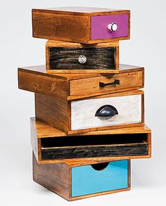 Upcycled Drawer Tower
