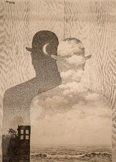 René Magritte, The Thought Which Sees, 1965