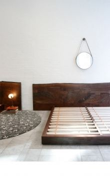 natural edge wood slab headboard - live edge slabs are available at http://www.BerkshireProducts.com