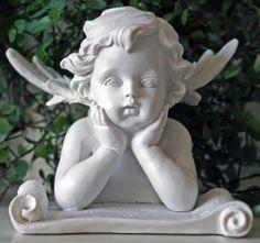 Statuette ange lecteur