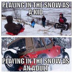 Jeep fun in the snow