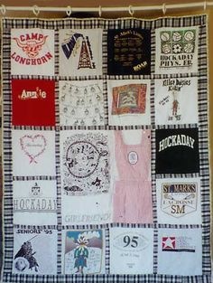 Use your quilt as a shower curtain!
