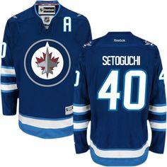 Winnipeg Jets 40 Devin Setoguchi Home Jersey - Navy Blue