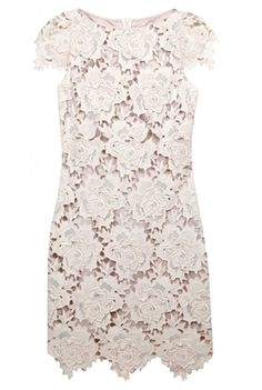 3D Star Lace Dress in Ivory by: Lover