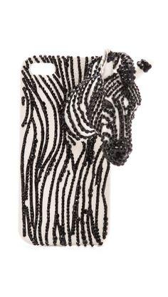 alice + olivia jeweled #zebra iphone case