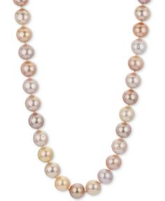 8-9 MM White Freshwater Cultured Pearl Necklace and Stud Earring Set 18 inch