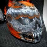 Unique painting designs for custom motorcycles helmets. By Xtreme Kreations  custom motorcycles helmets -- www.xtremekreations.com/custom-motorcycles-helmets-gallery