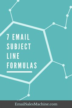 7 Email Subject Line Formulas. Your e-mail marketing matters.