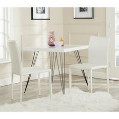 Safavieh Karna White Croc Bonded Leather Dining Chair (Set of 2) - Overstock™ Shopping - Great Deals on Safavieh Dining Chairs