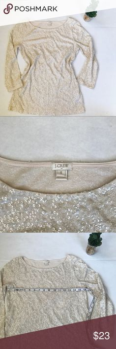 J. CREW Factory Sequin Boat Neck Top PERFECT for the holidays! Good condition!! J. Crew Factory Tops