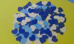 Cuore/fustellati/blu/glitter/ 150 cuori fustellati nelle