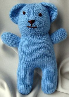Knitting patterns for teddy bear and goldfish
