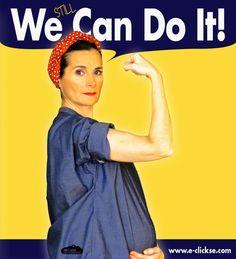 We can do it (pregnant version). We can do it cartel (versión embarazo). Rosie the riveter. Rosie la remachadora. 8 de marzo Dia de la Mujer   Blog www.micasaencualquierparte.com