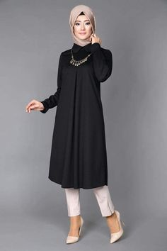 Discover thousands of images about Akasya Sade Tunic Laci Product code: -> TL Modest Fashion Hijab, Abaya Fashion, Muslim Fashion, Fashion Dresses, Professional Dresses, Islamic Clothing, Muslim Women, Muslim Girls, Hijab Outfit