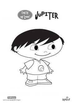 """Coloring Page: """"Jupiter"""" - Earth to Luna Show 