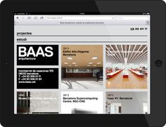 ✖✖✖ Mobile website and identity design for Baas Arquitectura created by Clase BCN. #Website #Branding #Design ✖✖✖