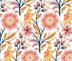 Autumn Floral fabric by clairicegifford on Spoonflower - custom fabric