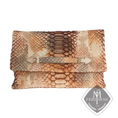 FERI MOSH Exotic - Conchetta - Hand Bag Posh Products, Envelope Clutch, Go Shopping, Designer Wear, Zipper Pouch, Suede Leather, Passion For Fashion, Product Launch, Python