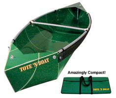 Tote-N-Boat Folding Canoe. Weighs less than 32 pounds, 10 feet long36 inches wide at center. Easy to assemble it wow!