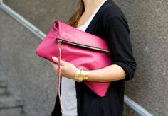 hot pink clutch...I would so rock this!