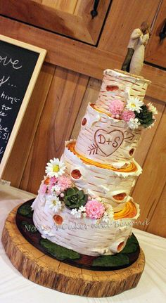 Birch Tree Wedding Cake - Cake by Nancy's Cakes and Beyond ...