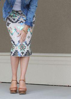 Ah, my express mini skirt in a pencil skirt instead! I need it!