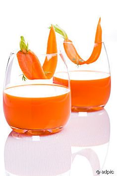 Carrot juice I 6-8 carrots for 1 glass, sweeten your juice with apple and orange or some fresh ginger to spice it up