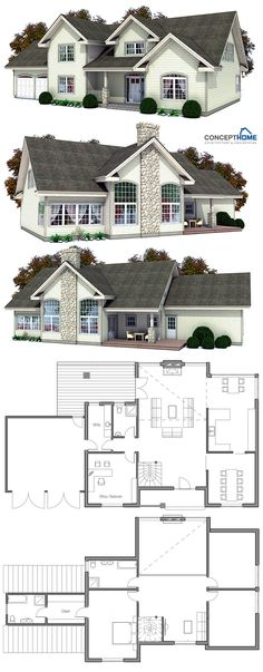 New House Plans, House Floor Plans, Classical Architecture, Architecture Design, Building Design, Building A House, Architecture Classique, Casas The Sims 4, Custom Home Plans