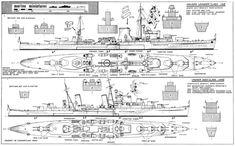 Marine Miniatures - Leander and Dido Class Cruisers: restored plan Model Ship Building, Paper Ship, Rc Model, Navy Ships, Model Ships, Royal Navy, Battleship, Models, Planer