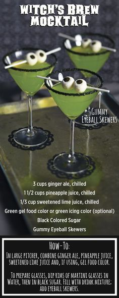 Mix up this easy potion for a Halloween Party! More
