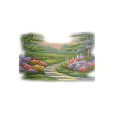 paysages ❤ liked on Polyvore featuring backgrounds, tubes, flowers, landscape, nature and scenery
