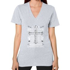 Christian girl V-Neck (on woman)