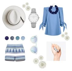"""""""Blue skies"""" by rashaune-stevens ❤ liked on Polyvore featuring BCBGMAXAZRIA, TIBI, Calypso Private Label, Dsquared2, Topshop and Terre Mère"""