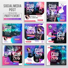 Collection Of Social Media Post Design Template Social Web, Social Media Ad, Social Media Template, Social Media Design, Post Design, Ad Design, Banners, Ads Banner, Real Estate Banner