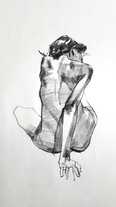 "ARTIST: Aaron Coberly ~ ""Seated discreet nude female back anatomy sketch"" Human Figure Drawing, Figure Sketching, Body Drawing, Life Drawing, Human Figure Sketches, Figure Drawings, Gesture Drawing, Anatomy Sketches, Body Sketches"