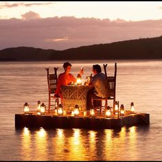 Turtle Island Fiji - Talk about a romanic dinner for 2!!!