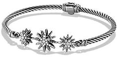 David Yurman Starburst Three-Station Cable Bracelet with Diamonds in Sterling Silver Jewelry & Accessories - Bloomingdale's Diamond Bracelets, Silver Bracelets, David Yurman, Jewelry Accessories, Jewelry Design, Designer Jewelry, Wholesale Silver Jewelry, Modern Jewelry, Jewelry Findings